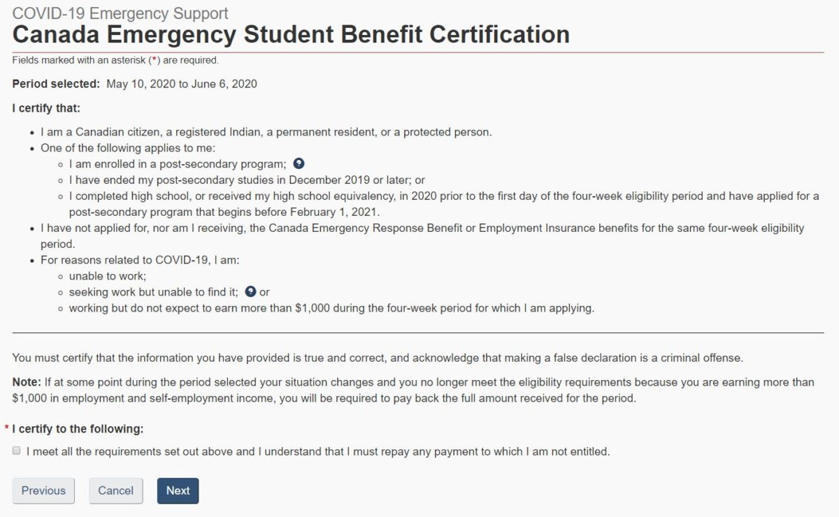 CESB Certification of Eligibility